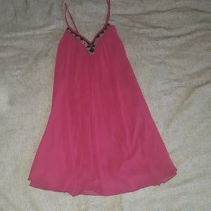 NWT Express flow flare maroon dress